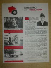 "1972 WHEEL HORSE TRACTORS ""Wheeling with Wheel Horse"" Cecil Pond SALES BROCHURE"