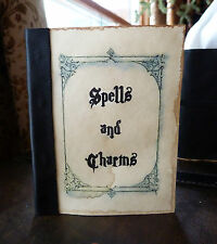 Harry Potter Hogwarts aged Book of Spells and Charms.