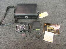 Vintage Olympus Film Camera 35 MM 35-EC Vivitar 102 Flash 1:2.8
