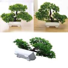 Resin Bonsai Tree in Pot - Artificial Plant Decoration for Office/Window/Desk