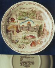 Vernon Kilns Pennsylvania hand painted plate-multicolor