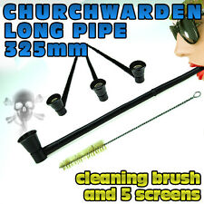 "SUPER LONG CHURCHWARDEN PIPE | WOODEN 325mm or 12.80"" Inches Wood Pipes"