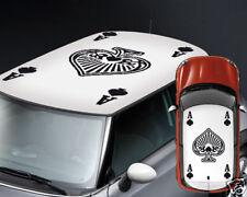 00045 Adesivi Auto Tuning Mini Cooper 500 Smart Asso Picche 100x150 cm