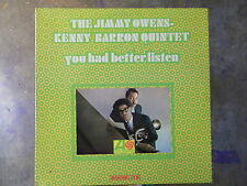 THE JIMMY OWENS - KENNY BARRON QUINTET YOU HAD BETTER LISTEN ATLANTIC MONO