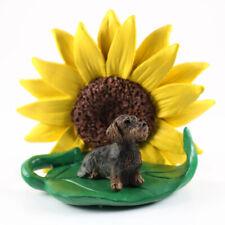 Wirehair Dachshund Sunflower Figurine