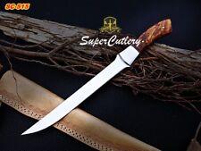 Custom Handmade D2 Steel Fillet Knife with Rose Wood Handle Fishing, Boning
