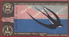 1934 Regno -  Libretto IV Campagna Nazionale  Antitubercolare