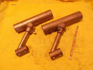 PAIR of BRASS FISHING ROD HOLDERS clamp on style