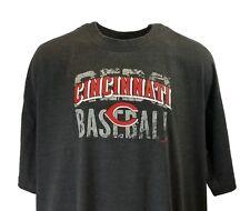 Cincinnati Reds Majestic MLB Granite Grey T-Shirts, Mens Big & Tall, nwt