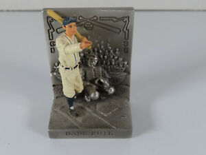 """1996 MLB Babe Ruth """"Called Shot"""" Pewter Cooperstown Collection Figurine"""