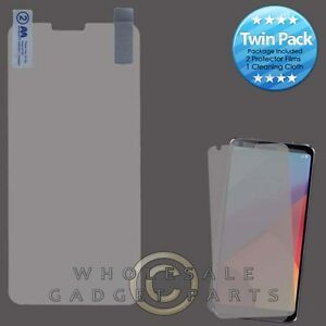 LG G6 MYBAT LCD Screen Protector - Twin Pack Cover Film Guard Shield Protection