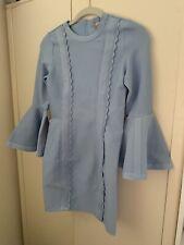 Asos Petite Flute Sleeve Scallop Detail Bodycon Dress - Size 8