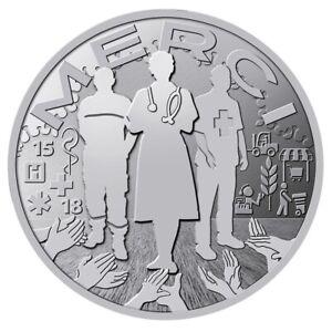 Jeton souvenir Monnaie de Paris 2020 - MERCI / Lutte contre le virus