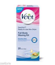 Veet Cold Easy Grip Wax Strips Sensitive Skin Vitamin E & Aloe Vera 10 x 2 Strip