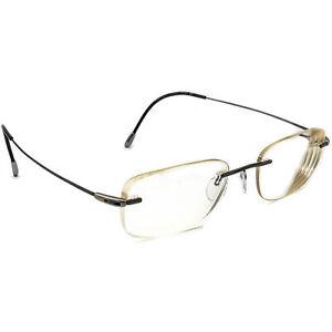 Silhouette Eyeglasses 7554 60 6057 Titan Gunmetal Rimless Austria 53[]19 150