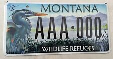 "MONTANA MINT SAMPLE LICENSE PLATE "" AAA 000 "" WILDLIFE REFUGES EXOTIC BIRD"