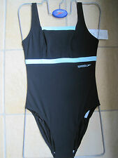 SPEEDO SWIMWEAR FEMALE ENDURANCE+ BLACK EXCLUSIVE TUMMY CONTROL UK WOMENS 34""