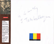 """Chad 1st Pres. François Tombalbaye 1918-75 genuine autograph signed 7""""x7"""" card"""