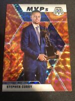 Panini Mosaic Stephen Curry MVPs Orange Reactive Prizm 2019-20 Warriors
