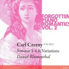 2-CD CARL CZERNY - FORGOTTEN PIANO ROMANCES VOL. 2: SONATAS 1-4 & VARIATIONS - D