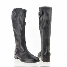 Gabor 72778 Women's Black Leather Zip Knee High Boots Sz 6.5 M, UK 4 NEW $340