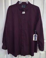 NWT Rugby University Men's Red Plaid Big & Tall Long Sleeve Button Shirt 3XLB