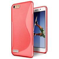 Handy Hülle für Huawei P7 Mini Silikon Case Slim Cover Schutz Hülle Tasche Rot
