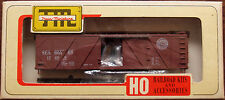 HO Train Miniature Seaboard 40' Outside Braced Wood Box Car Kit