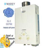 Tankless Gas Water Heater 3.1 GPM LPG (Propane) 2 bath house / RV - MAREY GA10LP
