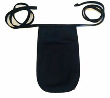 Usa Made Black Money Pouch Apron With Attached Ties!