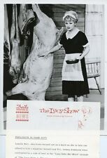 LUCILLE BALL AND SIDE OF BEEF THE LUCY SHOW ORIGINAL 1962 CBS TV PHOTO