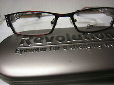 Revolution Eyeglass Frame WITHOUT a sun shade  REV680 in RDLS 49-17-140 w/case