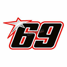 NICKY HAYDEN 69 WSBK 2016 RACE NUMBER STICKERS DECALS GRAPHICS x3