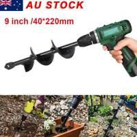 "9"" Garden Auger Power Earth Shaft Spiral Drill Bit Planter Digge Post Hole Tool"