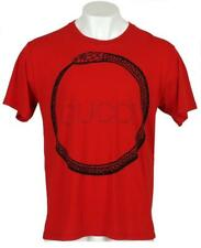 NEW GUCCI MEN'S RED BLACK COTTON SNAKE RING LOGO T-SHIRT L/LARGE