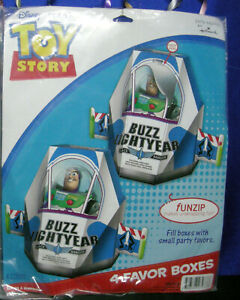 Toy Story 3 Party 4 Favor Boxes Buzz Lightyear Space Ranger