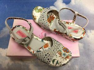 Italy Roberto Cavalli Angels Rhinestone Wedges Sandal Size 39, 40 /US Women 9,10