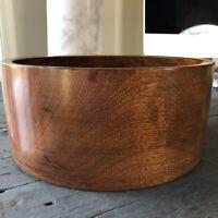 MCM Hand Turned Wooden Bowl Woodbury Woodware Shelburne VT Serving Decor