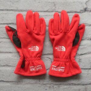 Vintage 1997 North Face Polar Fleece Gore Windstopper Gloves Winter Ski Snow 90s