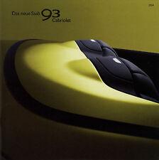 Saab 9-3 93 Cabriolet Prospekt 2004 D brochure convertible broschyr brosjyre