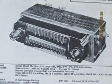 MOPAR OEM 1957 DODGE Radio Model 624 Photofact Folder