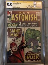 Tales to Astonish 60 CGC 5.5 SS SIGNED Stan Lee Marvel 1964 Giant Man Early Hulk