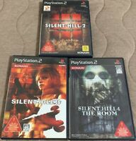 PS2 Silent Hill 2 & 3 & 4 The Room 3 game set Japan