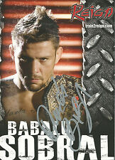 Renato Babalu Sobral Signed 5x7 Promo Photo PSA/DNA COA UFC StrikeForce Auto'd