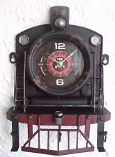 Vintage Distressed Tin Plate Model Wall Clock / Hanger /Ornament /Gift