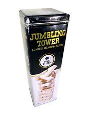 Cardinal Jumbling Tower 48 Wood Pieces Strategy Nerves Stacking Game+Tin! New!