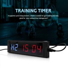 Reloj De Pared pantalla LED temporizador de intervalos programable + Control remoto para entrenamiento de Fitness M