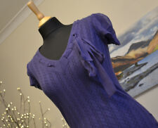 TED BAKER Purple V-Neck Top with Silk Tie - TED Sz. 1 (UK 8)