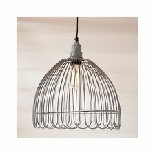 Petal Cage Pendant Kitchen Light in Weathered Zinc