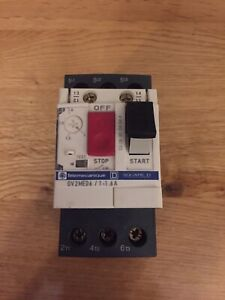 Telemecanique GV2-ME06 Motor Operated Circuit Breaker Starter 1 - 1.6A MOCB